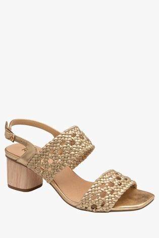 Ravel Gold Sling Back Open Toe Sandals