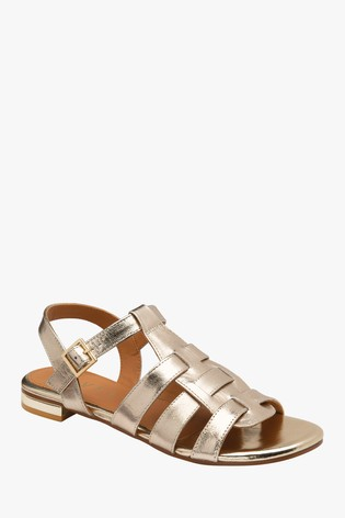 Ravel Gold Ankle Strap OpenToe Sandals