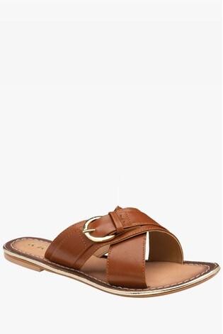 Ravel Brown SlipOn Mule Sandals
