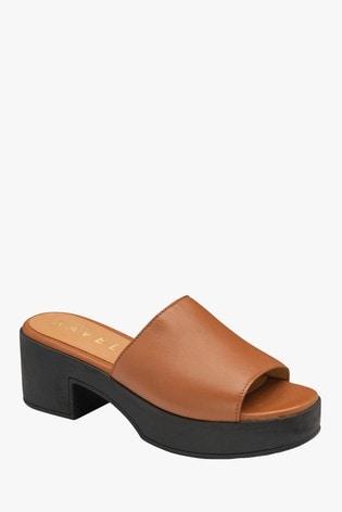 Ravel Brown Mule Sandals