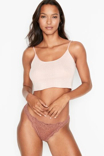 Victoria's Secret Lace Shimmer Thong Panty