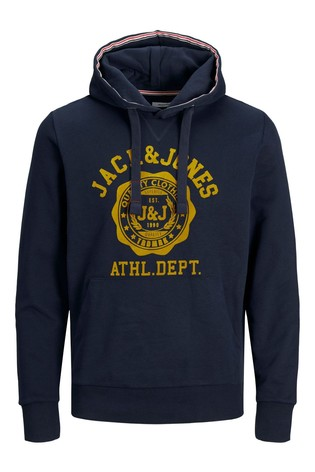 Jack & Jones Navy Blazer Atheltic Logo Hoodie
