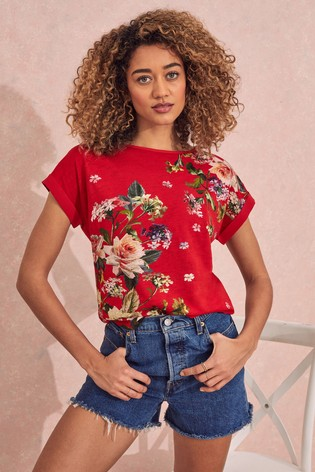 Love & Roses Floral Roll Sleeve TShirt