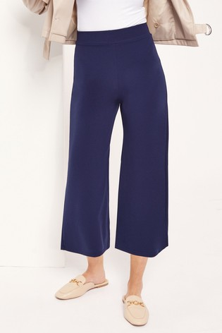 Lipsy Navy High Waist Culotte Trousers
