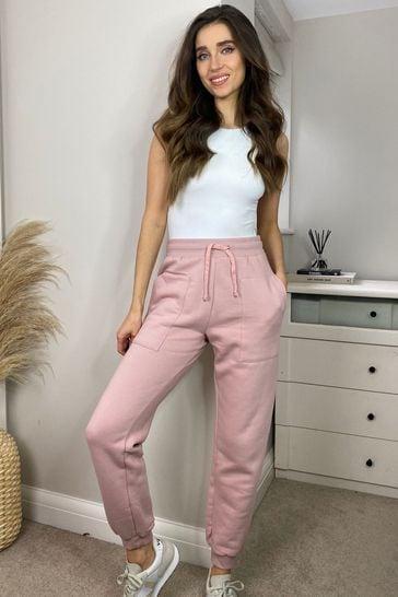 Threadbare Pink Vera Fleece Joggers