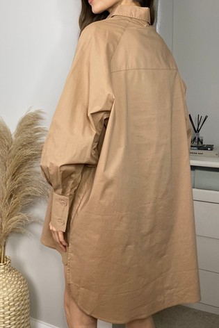 Threadbare Nude Sheila Oversized Shirt Dress