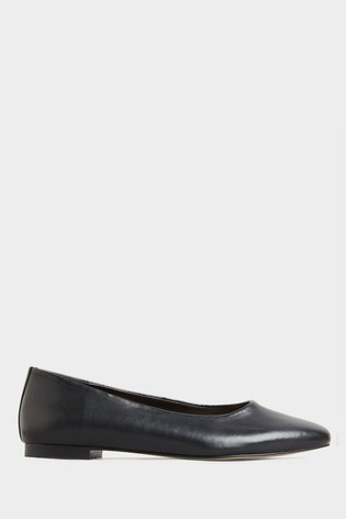 Long Tall Sally Black Almond Toe Ballet Shoe