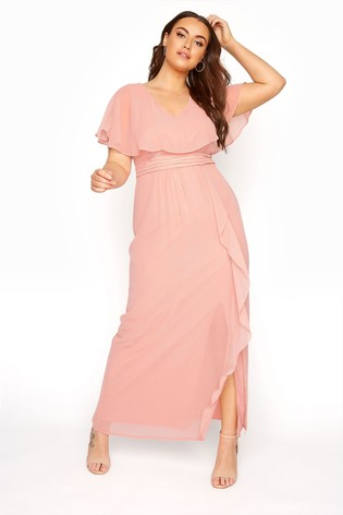 Yours Pink Angel Sleeve Maxi Dress