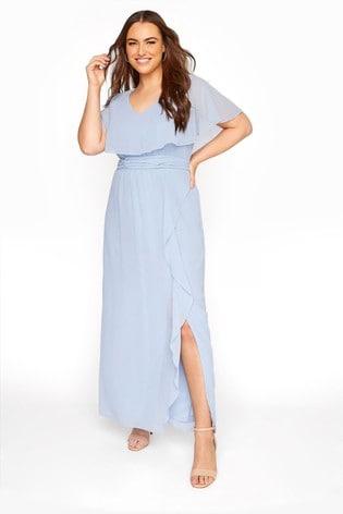 Yours Blue Angel Sleeve Maxi Dress