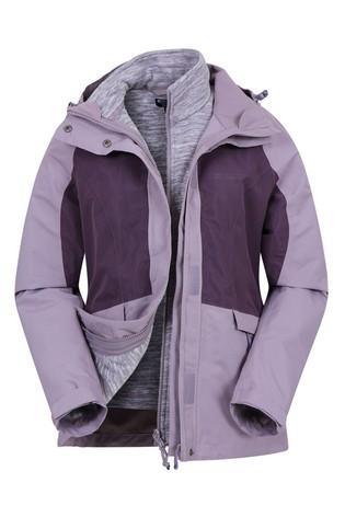 Mountain Warehouse Purple Thunderstorm 3-In-1 Womens Jacket