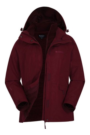 Mountain Warehouse Red Thunderstorm 3-In-1 Womens Jacket