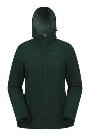 Mountain Warehouse Green Exodus Womens Softshell Jacket