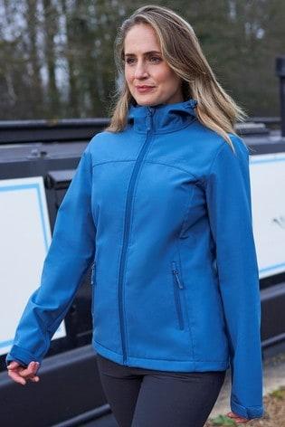 Mountain Warehouse Mid Blue Exodus Womens Softshell Jacket