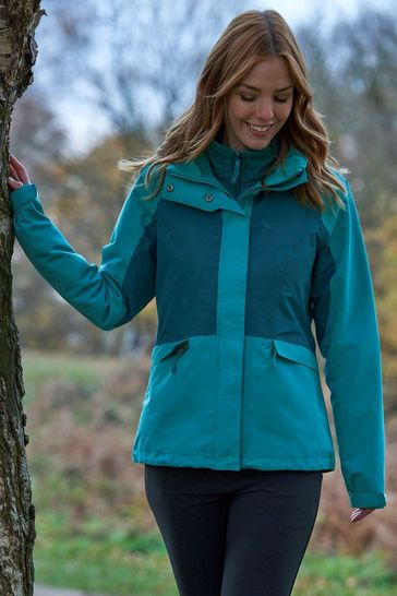 Mountain Warehouse Green Thunderstorm 3-In-1 Womens Jacket