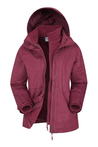 Mountain Warehouse Red Fell Womens 3 In 1 Water-Resistant Jacket