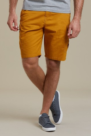 Mountain Warehouse Yellow Lakeside Mens Cargo Shorts