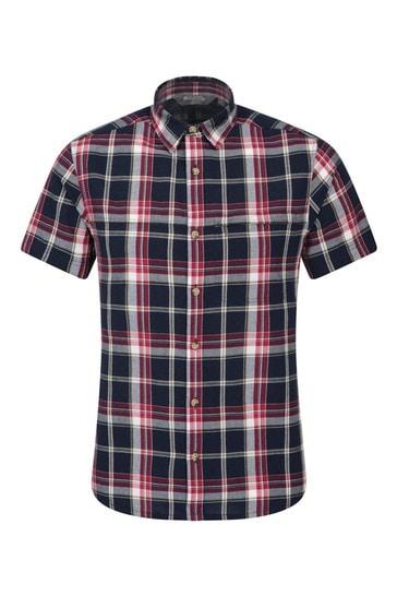 Mountain Warehouse Mid Blue Holiday Mens Cotton Shirt