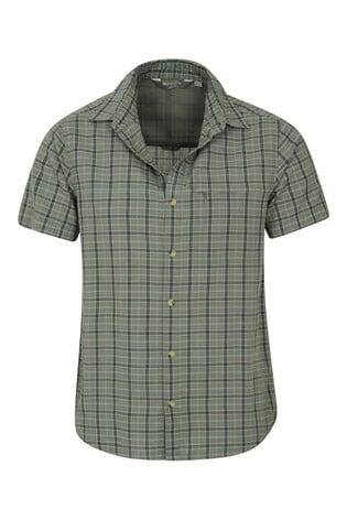 Mountain Warehouse Green Holiday Mens Cotton Shirt