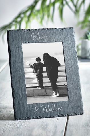 Personalised Slate Photo Frame by Loveabode
