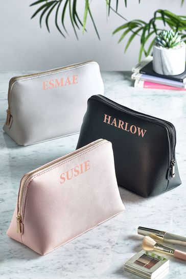 Personalised Large Make-Up Bag by Loveabode