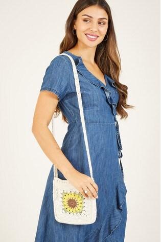 Yumi Blue Yumi Cotton Denim 'Emilia' Wrap Dress