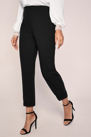 Lipsy Black Petite Tapered Trousers