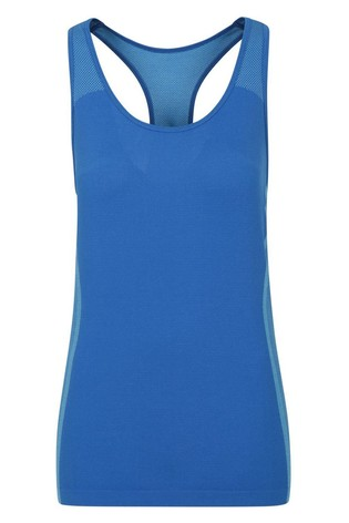 Mountain Warehouse Blue Track Womens Seamless Slim Fit Track Vest