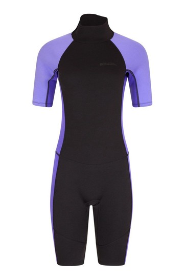 Mountain Warehouse Purple Womens Shorty Neoprene Wetsuit