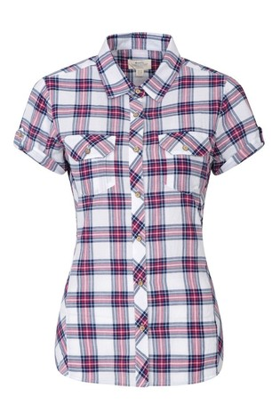 Mountain Warehouse Red Holiday Womens Cotton Shirt