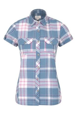 Mountain Warehouse Blue Holiday Womens Cotton Shirt