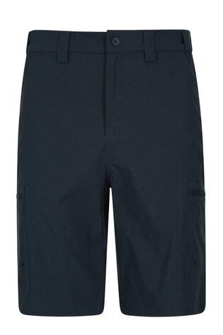 Mountain Warehouse Navy Trek II Mens Walking Long Shorts