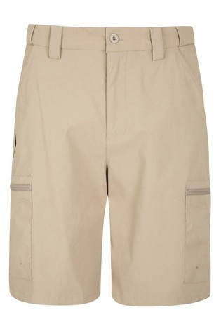 Mountain Warehouse Beige Trek Stretch Mens Walking Shorts