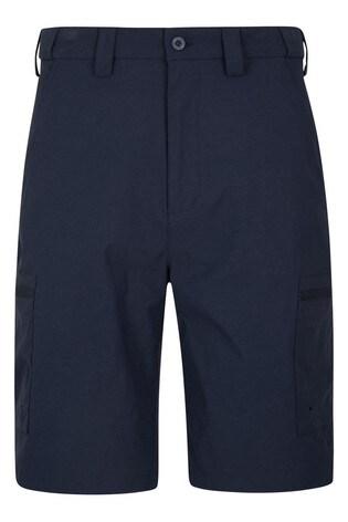 Mountain Warehouse Navy Trek Stretch Mens Walking Shorts