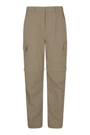 Mountain Warehouse Beige Convertible Walking Trousers