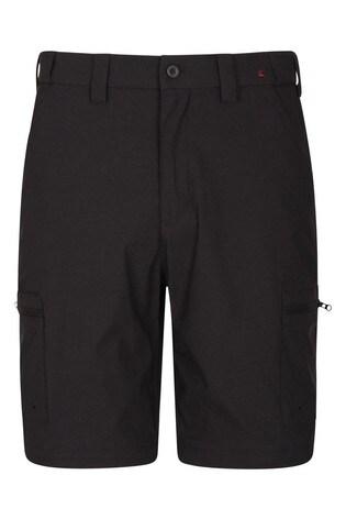 Mountain Warehouse Black Trek Stretch Mens Walking Shorts