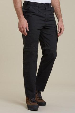Mountain Warehouse Black Convertible Walking Trousers