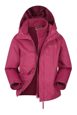 Mountain Warehouse Red Fell Kids 3 In 1 Water Resistant Jacket
