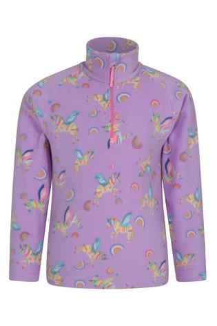 Mountain Warehouse Light Purple Endeavour Kids Printed Fleece