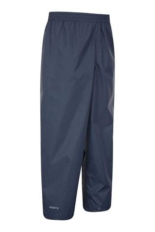 Mountain Warehouse Blue Pakka Kids Waterproof Over Trousers