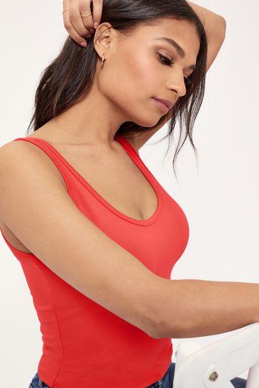 Lipsy Red Regular Long Line Vest Top