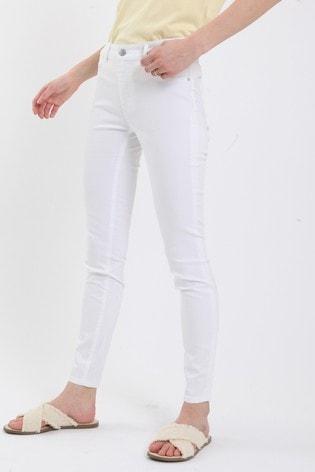 Pimkie White Push-Up Mid Waist Skinny Jeans