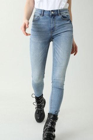 Pimkie Blue Push-Up Mid Waist Skinny Jeans