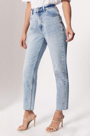 Pimkie Blue Straight High Waist Jean