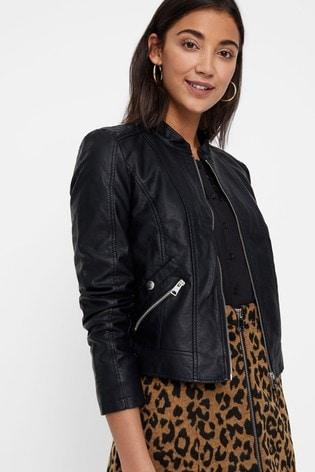 Vero Moda Black Faux Leather PU Jacket