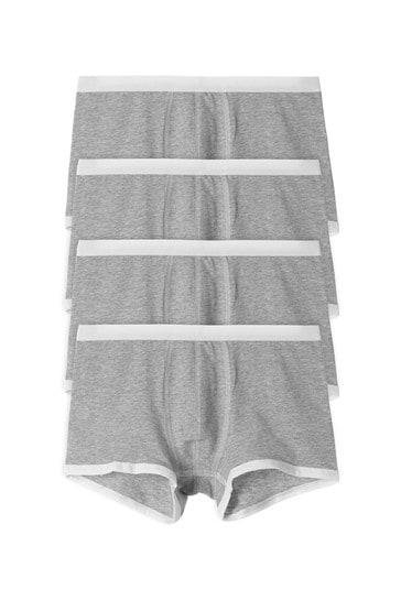 Tezenis Grey 4 X Stretch Cotton Boxer Trunks