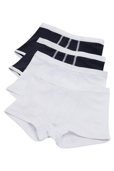 Tezenis White 4 X Stretch Cotton Boxer Trunks