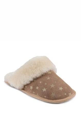 Just Sheepskin Star Ladies Duchess Sheepskin Slipper