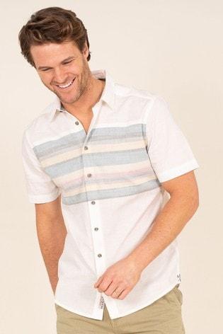 Brakeburn Blue Chest Stripe Shirt