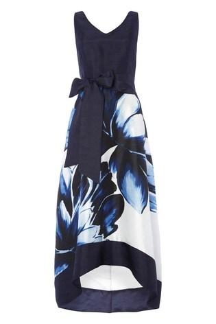 Roman Navy Floral Placement Maxi Dress