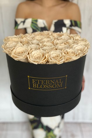 Personalised Year Lasting Real Roses Extra Large Blossom Box by Eternal Blossom